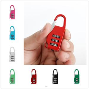 قفل الآمن السفر مكافحة سرقة قفل 3 البسيطة الطلب أرقام قفل عدد كود كلمة الجمع قفل الأمن لقفل الأمتعة 7Colors E22405