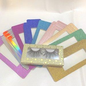15 estilos 3D Mink pestañas del paquete Cajas pestañas falsas de embalaje caja de la pestaña vacía la caja Pestañas Caja de papel de embalaje 50 juegos