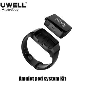 Uwell Amulet Pod System Kit Watch-Style 2мл Многоразовый стручок 1.6 Ом Встроенная батарея 360 мАч с кабелем Micro-USB Вращающийся экран