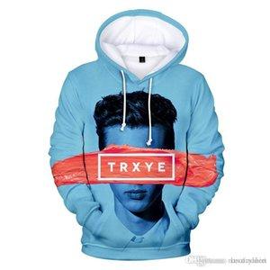 Troye Sivan Mens cappuccio progettazione 3D Stampa Coppia Autunno Adolescente hoodies allentati maniche lunghe Abbigliamento casual Abbigliamento Pullover