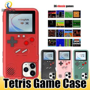 Consola de juegos retro para el iPhone 11 Pro Max XR X 8 a todo color de pantalla 3D casos de teléfono clásico juego de Tetris de la cubierta izeso