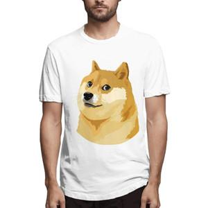 kurze Ärmel Druck Shiba Inu Hunde Clip Art-T-Shirt der beiläufigen Männer T-Shirt Hohe Qualität Männer Oansatz mens T Shirts Oansatz T-Shirt