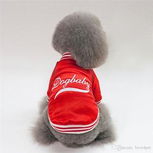 애완 동물 개면 따뜻한 옷 강아지 야구 유니폼 2019 새로운 스타일 dogbaby F110 개 겨울 코트