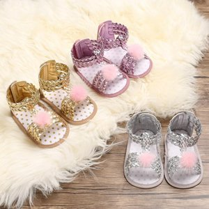 Canis Fashion Cute Newborn Infant Baby Girls PU Leather Bowknot Sandals Cuna Casual Princess Party Shoes