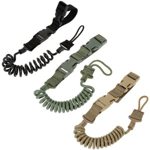 Wholesale-Multi-functional Lanyard Safety Rope Anti-lost Spring Elastic Key Holder Lanyard EDC Tools For Outdoor EDC Fans