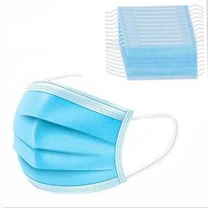 100X desechable de la mascarilla del 3Ply máscara anti polvo con elástico Lazo boca del polvo de la máscara de protección maschere