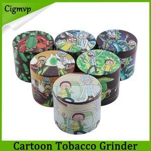 Irrésistible Grinder Herb Cartoon Grinders en alliage de zinc 4 couches 40/50 mm Tabac Crusher Secs Herb Grinders en Métal Livraison gratuite