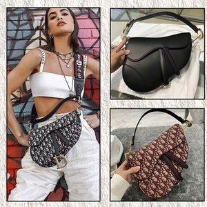 Top Quality 2020 borse a spalla nuove donne calde della borsa di modo Beige Lettera ricamo Saddle bag signora della ragazza Messenger Bag Marsupi