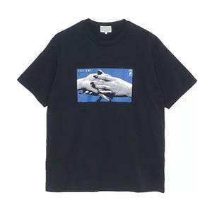 Moda-Marka CavEmpt CE El Sıkışma Baskılı Pamuk erkek kadın Cav Empt Kısa Kollu T-shirt Tee