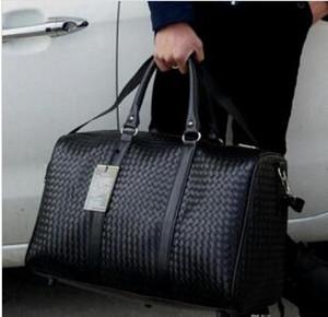 Bolsa de equipaje de viaje de mano impermeable PU de cuero rodando maleta Trolley Equipaje MujeresMen bolso de hombro libre Adolescente Duffle Totes