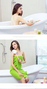 Bath Massagear Ferramenta Cabo longo Lotion Creme Oil Aplicador Chefe banho esfrega a escova Massager Duche Esfregar escova Prático