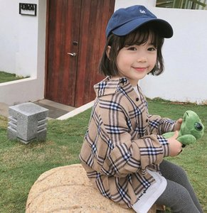 New Spring Baby Girls Plaid Shirt Kids Long Sleeve Tops Chidren Casual Shirts 14631