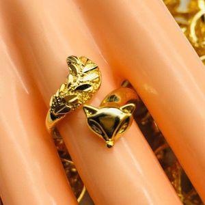 Venda quente ladys anel Sha Jin Fox Anel Chapeamento 24 K Anel de Ouro Feminino Explosão Casamento Imitação de Jóias de Ouro preço de Atacado frete grátis