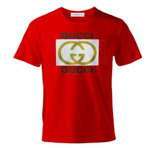 2020 casual T-shirt men's summer  shirt multi color cotton blend round neck short sleeve cartoon print