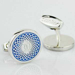 Nueva lujo francés mancuernas de los hombres de 18 mm Diámetro de la joyería de boda de lujo Traje regalo camisa Gemelos personalizada
