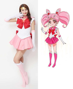 2020 New Japanese Anime Sailor Moon Cosplay Costume Chibi Moon Costumes Dress Carnival Halloween Costumes for Women Kids Custom Any Size