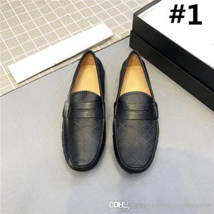 Classic fashion driving Doug shoes,Cowhide grain with and striped ribbon trim lightsome and wear-resistant shoes