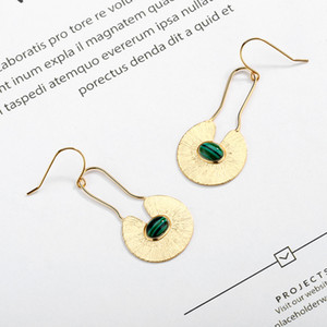 Summer Watermelon Pattern Earrings Korean New Elegant High Sense Cool Cool Face Slimming 925 Sterling Silver Earrings