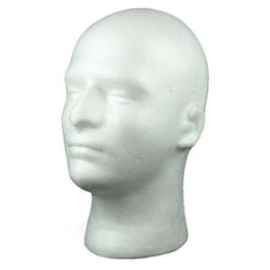 Masculino isopor Mannequin Cabeça Cosméticos Modelo Peruca Óculos de exibição W / suporte