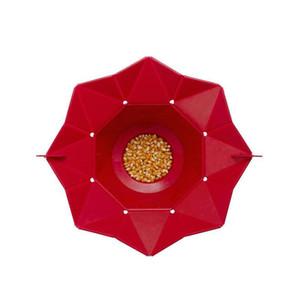 Katlanabilir Popcorn Kepçe Silikon Popcorn yapımcısı depolama kabı mikrodalga pop corn kutusu kova kabarık gıda kase mutfak Araçları AN2814