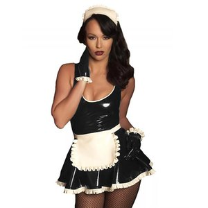 11 Colors Cute Maid Servant Costume Set French Babydoll Dress Women Cosplay Fancy Dress Exotic Lolita Uniform With Apron Gloves