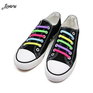 12шт без галстука шнурки унисекс Силиконовые шнурки для кроссовок женщины мужчины эластичная обувь шнурки без галстука шнурки шнуровка обуви
