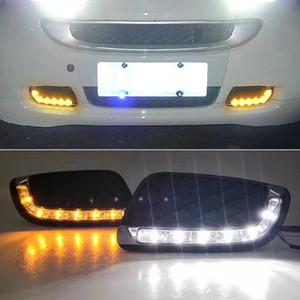 2008 2009 2010 2011 Daylight Sinyal Sis lambası Sürüş ışık fortwo Mercedes Benz Smart For Lights Running 1 Set LED OTOMOBİL DRL Gündüz
