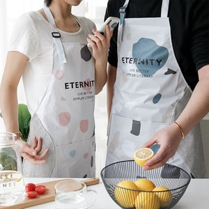 Hand-appeso grembiule semplice stile nordico cucina creativa a casa adulto pvc impermeabile e anti-olio grembiule fibbia regolabile