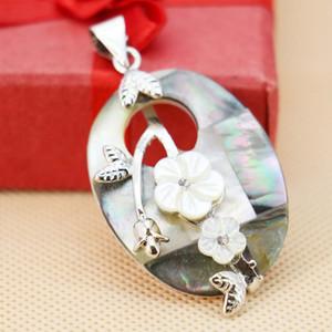 30x40mm Natural Abalone Seashells Conchas de Mar Colgantes de Perlas Bordar Accesorios de Flores Paua Fabricación de Joyas Diy Artesanía