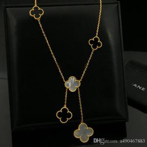 Aço inoxidável 316L banhado a ouro Ágata Branca amante da flor Preta Colar de ouro Fino Naturais ágata vermelha mulheres Jóias