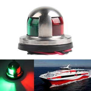LED Navigation Lights 12V Waterproof Stainless Steel Green Red Sailing Signal Lamp Navigation Warning Light For Boat Yacht