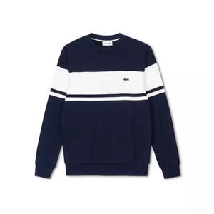 Homens polo las0te camisola crocodilo tricô hoodie de designers de homem moletom marca respirável encapuçado morna outono pullover inverno rua