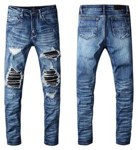 Yeni Avrupa Daimi Erkek Jeans, Erkek kot, skinny jeans ve siyah işlemeli kafatası 003 bir çift