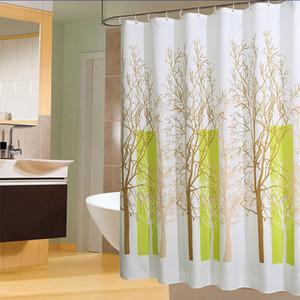 친환경은 패턴 샤워 커튼 방수 욕실 커튼 폴리 에스테르 친환경 목욕 커튼 (12) 후크 식물