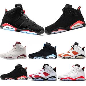 Nike Air Max Retro Jordan Shoes de alta qualidade New Bred 6 6s Mens tênis de basquete Tinker UNC Black Cat infravermelho azul Carmine Homens treinadores desportivos Sapatilhas