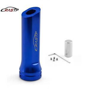 RASTP -RACING 유니버설 자동차 알루미늄 핸드 브레이크 슬리브 핸드 브레이크 핸들 손 보호 커버 블루 RS-HB016