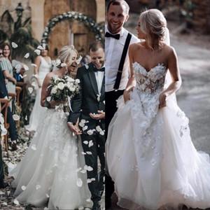 Fait sur mesure 2020 Spaghetti jupe à volants dos nu Taille Plus élégant Country Garden Robes de mariée blanche Robes de mariée