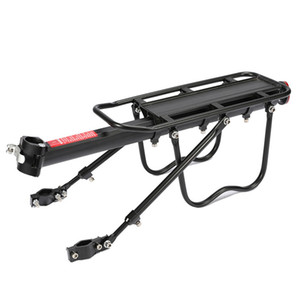 Bike Rack Aluminum Alloy Frame Luggage Rear Carrier Rear Rack Trunk for Bicycles MTB Bike Rear Shelf with Mounting Wrench