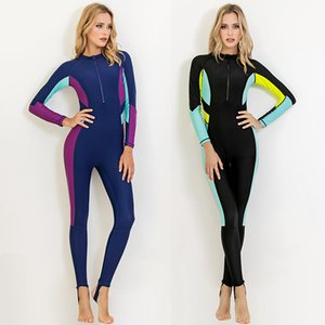 Sbart Thin Rash Guard Women's One Piece Wetsuits Full Bodysuits Long Sleeves Surfing Sailing Swimsuits Female Swimwears