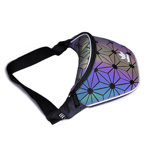 Marka Bel Çantaları Lüks Tasarımcı Harfler ile Çapraz Vücut Çanta Tek Omuz Messenger Çanta Fermuar Dazzle Renk Erkekler Fanny Paketleri