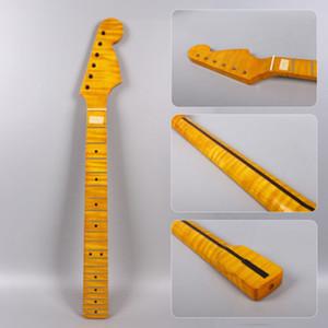 플레임 메이플 Electric Guitar Neck 21 프리트 25.5 인치 Strat 일렉트릭 기타 용