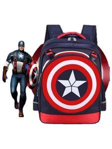 Neue Persönlichkeit Studenten Schoolbag Leichte Offload Captain America Schild Kinder Rucksack wasserdichtes Tragen Resistant Rucksack breathabl