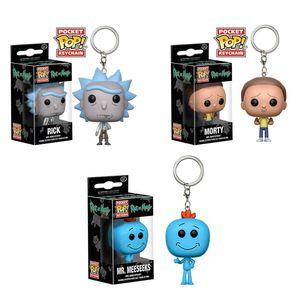 FUNKO POP Rick und Morty Pocket PoP Schlüsselanhänger Puppenspielzeug Funko Pocket POP Schlüsselanhänger Rick und Morty Vinyl Figure