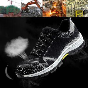 Chaussures de sécurité du travail Sport Respirant hommes Anti-dérapant Deodorise Proof Construction Femmes Crevaison sécurité Chaussures confortables # 291783