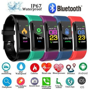 ID 115Plus Smart Fitness Armband Tracker 115 plus Bunter Bildschirm Blutdruck Pulsmesser Damenuhr für iphone xiaomi