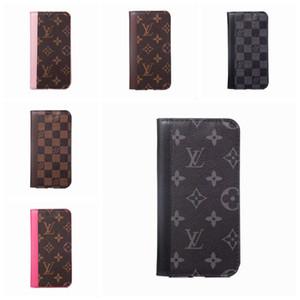 Для Iphone 11 про макс X XR Xs Max 6S 7 8 плюс Luxury Phone Case Official Leather Card Карманный дизайнерский бренд задняя сторона обложки A08