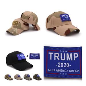 Trump 2020 Beyzbol Şapka Moda Kamuflaj Amerika Büyük Snapback Şapka Doğa Sporları Golf Tenis Güneş Caps 12pcs TTA1006 tutun