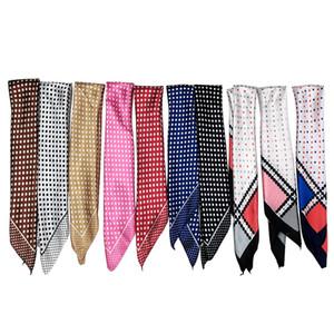 1 unids más nuevo Polka Dot bufanda de las señoras de seda como bufandas cuadradas 50 * 50 cm moda bufanda mujer primavera otoño cabeza cuello satinado bufanda