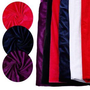 50 * 150cm del velluto Tessuto del panno del tessuto di seta splendida per Velvet Dress Abbigliamento di lusso morbido viola Home Textile Curtain