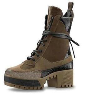 2019 de calidad superior Últimas Mujeres diseñador botas Martin Desert Boot flamencos Amor flecha medalla de cuero real tamaño grueso US5-11 zapatos de invierno